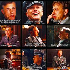 Christoph Waltz - Inglorious Basterds - Colonel Hans Landa... ah he was so mean but he's so good!