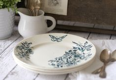 Beautiful antique French transferware plates!