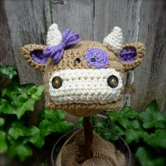 Miss Brown Cow via Etsy Cutest children's hats ever!!