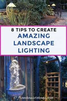Landscape Lighting Effects: 8 Dramatic Outdoor Lighting Ideas You Must Try In Your Garden - Gardening @ From House To Home These landscape lighting ideas are perfect for front yards or a backyard lighting. Learn how to des Backyard Lighting, Deck Lighting, Water Lighting, Lighting Ideas, Garden Lighting Effects, Garden Lighting Diy, Best Outdoor Lighting, Solar Licht, Landscape Lighting Design