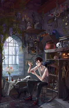 Concept Art Writing Prompt: The Witch's Son – Art Drawing Tips Art And Illustration, Fantasy Kunst, Fantasy Art, Animation, Character Inspiration, Character Art, Male Witch, Klarion The Witch Boy, Witch Aesthetic