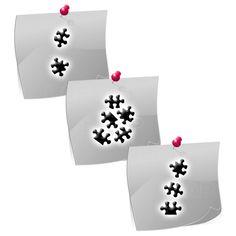 PL01 Klebeschablonen - LENZ art products - Kreativ von A-Z 3 Puzzle-Motive für Nailart oder Schmuckgestaltung mit Airbrush