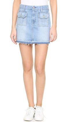 7 For All Mankind Utility Pocket Miniskirt | SHOPBOP