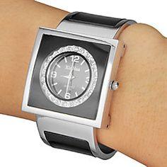 Damen+Armband-Uhr+Quartz+Band+Vintage+Schwarz+–+EUR+€+11.75 Watches Online, Cool Watches, Fashion Watches, Bracelet Watch, Quartz, Bracelets, Unique, Stuff To Buy, Accessories