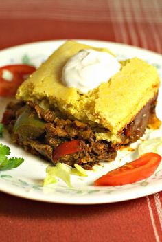 Spiced Cauliflower crumbles, sautéed Onions, Bell Peppers, and a homemade Enchilada Sauce, topped with my Vegan Country Cornbread. Homemade Enchilada Sauce, Homemade Enchiladas, Enchilada Recipes, Mexican Food Recipes, Whole Food Recipes, Vegetarian Recipes, Healthy Recipes, Ethnic Recipes, Vegetarian Mexican
