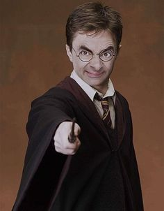 More Potter-y Bean | Community Post: 28 Creepy Photoshopped Pictures Of Mr. Bean
