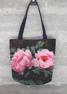 Tote Bag - Peony tote bag by VIDA VIDA TVfs2