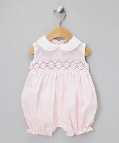 Pink Flower Smocked Romper - Infant | Daily deals for moms, babies and kids