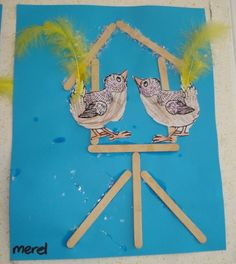 Knutselen 2d: Vogelhuisje