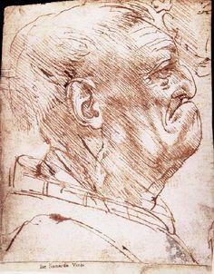 Grotesque profile of a man, LEONARDO da Vinci