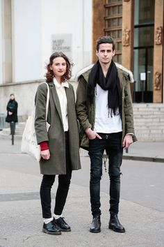 Street style, Paris Fashion Week: 21 snaps of stylish twosomes at the Fall 2015 shows Fashion Week Paris, Winter Fashion, Street Fashion, Stylish Couple, Winter Stil, Fashion Couple, Couple Outfits, Street Style, Look Chic