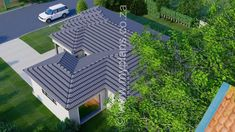 3 Bedroom House Plan MLB-014.1 - My Building Plans South Africa 4 Bedroom House Plans, Family House Plans, Single Storey House Plans, House Plans South Africa, Tuscan House, Dream House Exterior, Building Plans, Open Plan, Master Suite