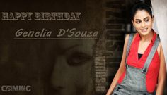 #‎ComingTrailer‬ Wishes you a Very ‪#‎HappyBirthday‬ to Genelia D'Souza... May Your each day be filled with love and happiness..  ‪#‎GeneliaDSouza‬ ‪#‎Bollywood‬