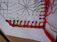 Marque page finition - Site de chezraymonde ! Bobbin Lace, Triangle, Kids Rugs, Diy, Beautiful, Decor, Fantasy, Bobbin Lacemaking, Crocheting