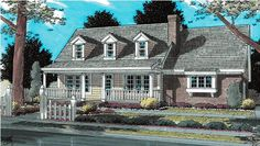This has storage in the garage and options for a bonus room, plus open kitchen!  Country   Southern   House Plan 68475