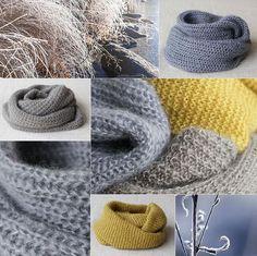 Tre enkle halsoppskrifter og to nøster Silk Mohair Knitting Designs, Neck Warmer, Diy And Crafts, Crochet Hats, Sewing, Instagram Posts, Handmade, Inspiration, Gifts
