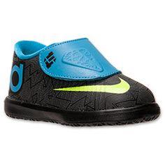 Boys' Toddler Nike KD VI Basketball Shoes| FinishLine.com | Black/Volt/Vivid Blue/Dark Grey