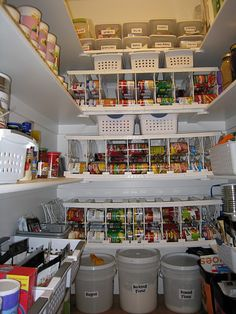 Food storage organized in a pantry