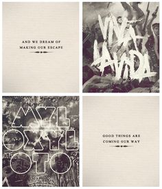 Last line of the albums Death and All His Friends and Mylo Xyloto.