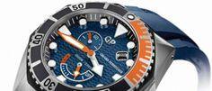Girard-Perregaux Sea Hawk La esfera en azul cobalto y las agujas en color naranja dan un toque más 'marinero' a un reloj nacido para grandes inmersiones.