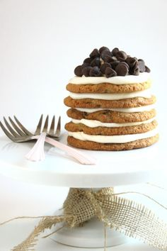 Chocolate Chip Cookie Cake for two @createdbydiane