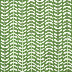 green 'Vines' leaf chain flower Cloud 9 organic Canvas fabric 2