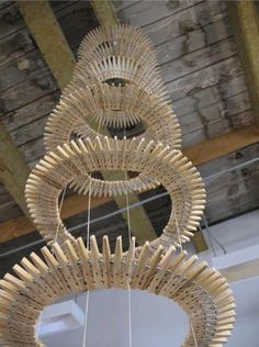 DIY: Clothespin Chandelier