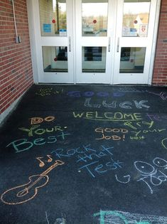 Great idea for a welcome for students, during testing time: