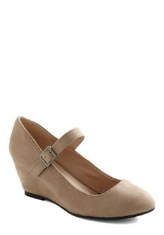 Every Walking Moment Wedge in Khaki, #ModCloth