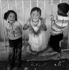 curious happy children
