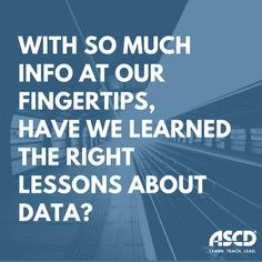 With so much info at our fingertips, have we learned the right lessons about data?