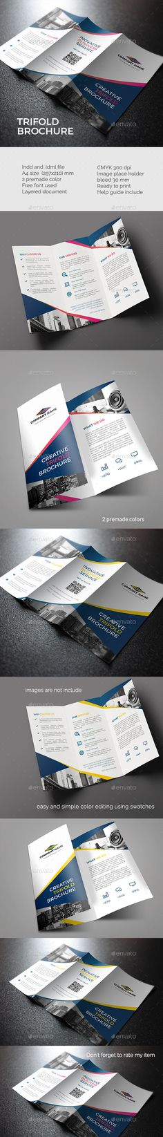 Trifold Brochure Template InDesign INDD. Download here: http://graphicriver.net/item/trifold-brochure-template-/15879417?ref=ksioks