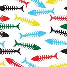 「魚 骨 イラスト」の画像検索結果