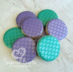 Mermaid Ariel Under the Sea Cookies Purple by SugaredHeartsBakery