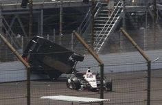 Conway crashes at Indy 500