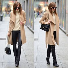 Get this look: http://lb.nu/look/7837554  More looks by Barbora Ondrackova: http://lb.nu/fashioninmysoul  Items in this look:  Balenciaga Leather Leggings, Bruna Rosso Givenchy Boots   #casual #chic #minimal