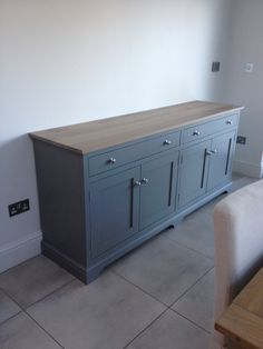 Sideboard Unit - Furniture - Shop Now Solid Wood Sideboard, Dining Room Sideboard, Painted Sideboard, Sideboard Furniture, Refurbished Furniture, Paint Furniture, Dining Room Furniture, Furniture Makeover, Furniture Handles