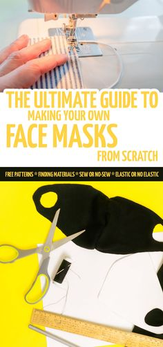 Want to make your own DIY face masks from fabric? These five patterns are free to use and easy to make (including options for no sew, no-elastic, and more)! Best Diy Face Mask, Easy Face Masks, Sewing Patterns Free, Free Sewing, Sewing Elastic, Buy Fabric Online, Mask Online, Diy Fashion Accessories, How To Make Diy