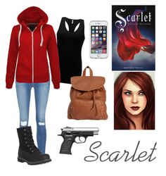 """Scarlet from ""The Lunar Chronicles"" Inspired"" by scamper623 ❤ liked on Polyvore featuring BKE, Frame Denim, Speck, Billabong and Timberland"