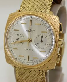VERY OLD  WATCHES FROM THE 1960S | RARE Vintage 1960s Breitling Top Time Chronograph - Gold Plate - 2008 ...
