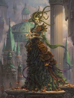 MTG: Vraska, Golgari Queen Magic the Gathering Guilds of Ravnica: Mythic Edition AD: Cynthia Sheppard © Wizards of the Coast LLC, a subsidiary of Hasbro, Inc. All Rights Reserved. Dark Fantasy Art, High Fantasy, Fantasy Rpg, Fantasy Artwork, Fantasy World, Magic The Gathering, Mtg Planeswalkers, Monster Concept Art, Mtg Art