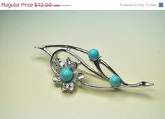 ON SALE SARAH Coventry Vintage 1967 Blue by HauteVintageJewels