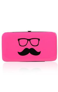 mustaches with glasses wallet