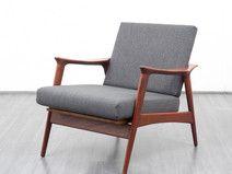 60er Jahre Sessel, skandinavischer Stil, Teak