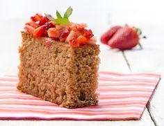 Rezept für Erdbeer-Becherkuchen ohne Ei