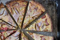 Rhubarb Tarte with Almond-Pastry and Cream Patissiere