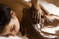 Chocolates may be great in a box, but for a true cacao lover, nothing beats a chocolate body scrub, then a chocolate blend body wrap, followed by a massage with warm cocoa shea butter. A delicious experience at @Four Seasons Hotel George V Paris. #FSSpa
