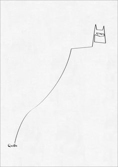 Design Crush » One Line Art - I just love how with a single drawn line, you can communicate so much. I mean, we know immediately who this is, yet it's so simple! Genius.