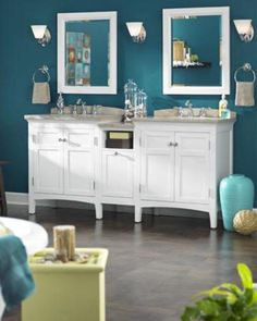 Colors shown (Valspar brand): Gypsy Teal #5010-8 (wall color); Desert Hotsprings #6008-5C (green/yelllow accents); Twilight Meadow (teal accents