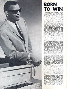 Article from early UK. That Old Black Magic, Ray Charles, Black Artists, Beats, Singer, Music, Piano, 1960s, Musica